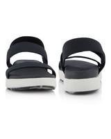 Keen Women's Elle Backstrap Sandal  -  black-white