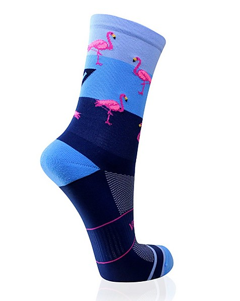 VERSUS Flamingo Sock -  blue