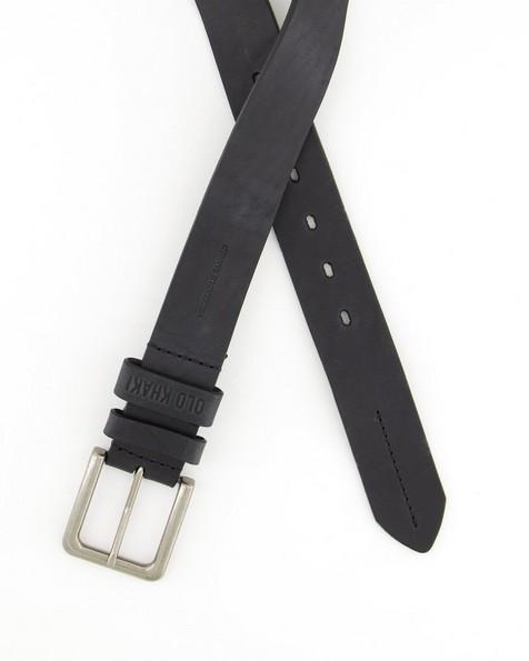 Old Khaki Men's Tony Leather Belt -  black