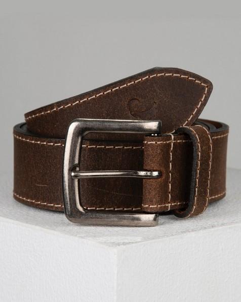 Old khaki Men's Joe Leather Belt -  brown