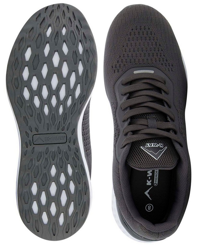 K-Way Griffin Shoe Mens -  charcoal-white