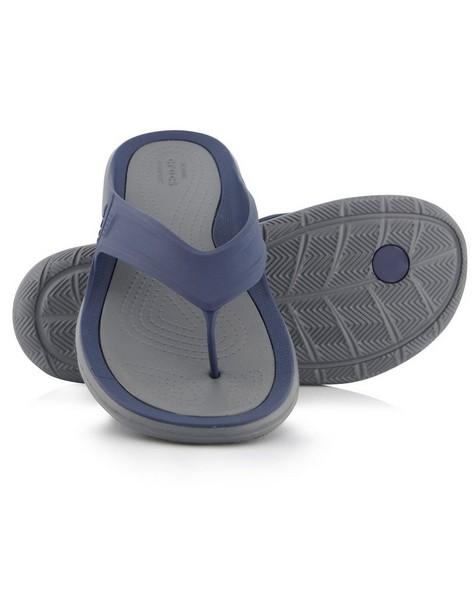 Crocs Swiftwater Wave Flip Sandal  Mens -  navy-charcoal