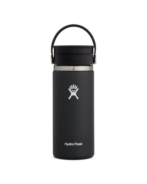 Hydroflask 473ml Wide Mouth Flex Sip Lid Coffee Mug 16oz -  black