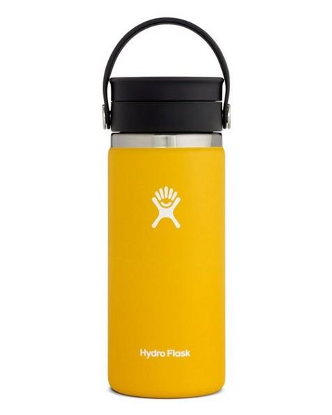 Hydroflask 473ml Wide Mouth Flex Sip Lid Coffee Mug 16oz -  yellow