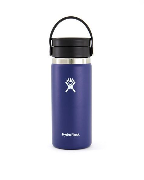 Hydroflask 473ml Wide Mouth Flex Sip Lid Coffee Mug 16oz -  navy