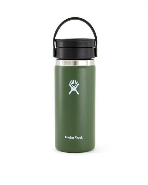 Hydroflask 473ml Wide Mouth Flex Sip Lid Coffee Mug 16oz -  olive