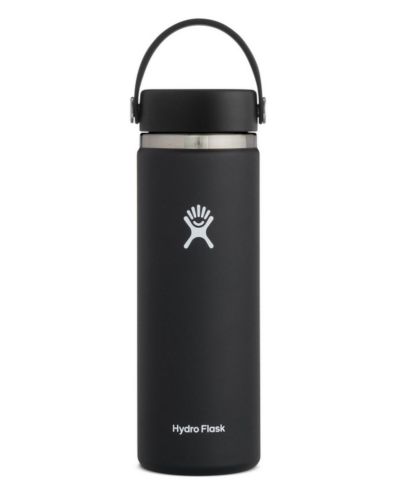 Hydroflask 591ml Wide Mouth -  black
