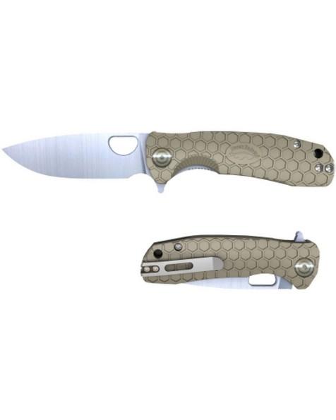 Honey Badger Flipper Large Knife -  tan
