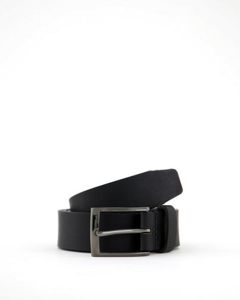 Arthur Jack Men's Edison Leather Belt -  black-black