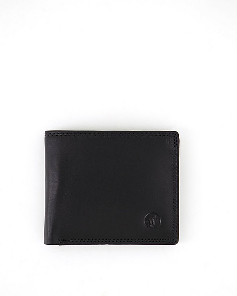 Arthur Jack Men's Monaco 2 Leather Wallet -  black-black