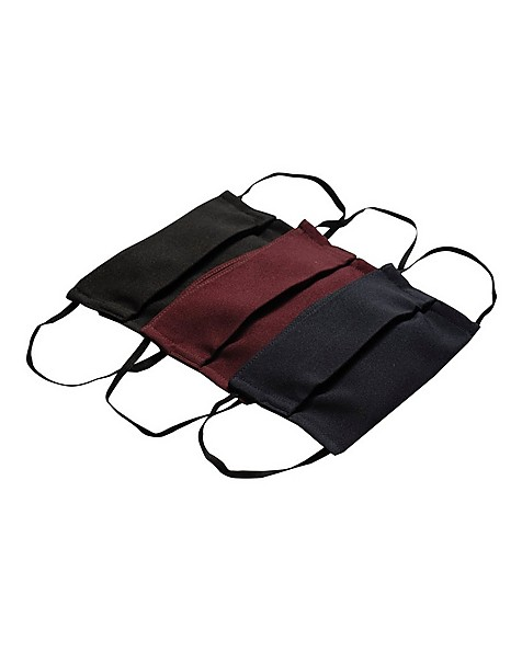 Cape Union Unisex Three-Piece Fabric 2-Layer Face Mask Pack with Filter -  navy-burgundy