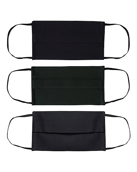 Cape Union Unisex Three-Piece Fabric 2-Layer Face Mask Pack with Filter -  navy-bottlegreen