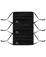 K-Way MB1 Fabric Face Mask 3-Pack with Filter -  black-graphite