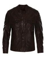 Old Khaki Women's Greer Leather Jacket -  chocolate