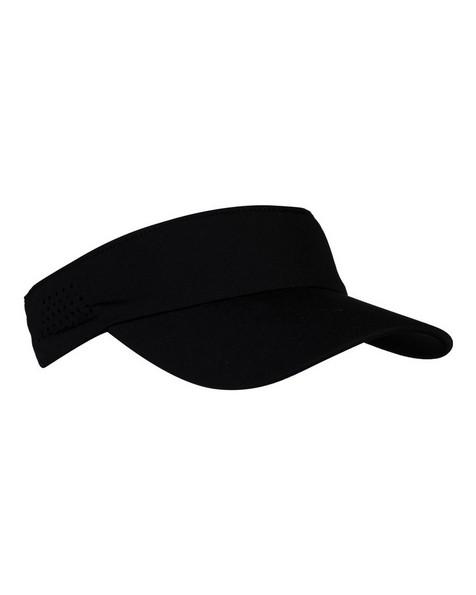 K-Way Men's Dash Stretch Visor -  black-black