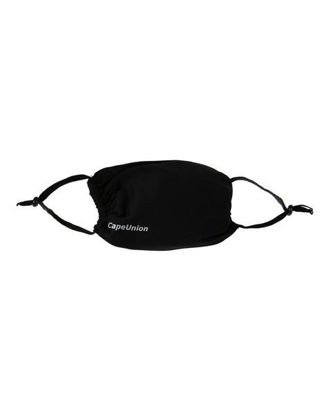 Cape Union Three-Piece Unisex Adjustable Face Masks Pack -  black