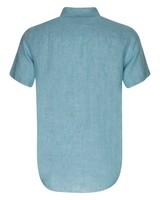 Old Khaki Men's Laz Linen Shirt -  aqua