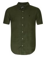 Old Khaki Men's Laz Linen Slim Fit Shirt -  olive