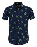 Old Khaki Men's Jeffery Slim Fit Shirt  -  navy