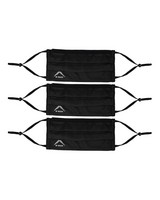 K-Way MB2 Fabric Face Mask 3-Pack -  black-graphite