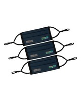 K-Way MB2 Fabric Face Mask 3-Pack -  black-navy