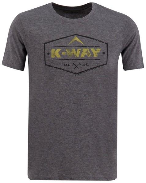 K-Way Men's Crewneck Tee -  graphite