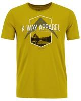 K-Way Men's Crewneck Tee -  ochre