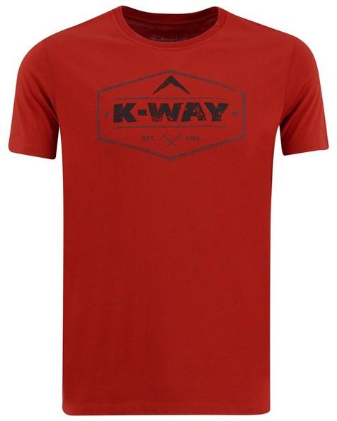 K-Way Men's Crewneck Tee -  rust