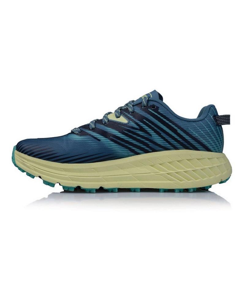 Hoka Women's Speedgoat 4 Shoe -  midblue-yellow
