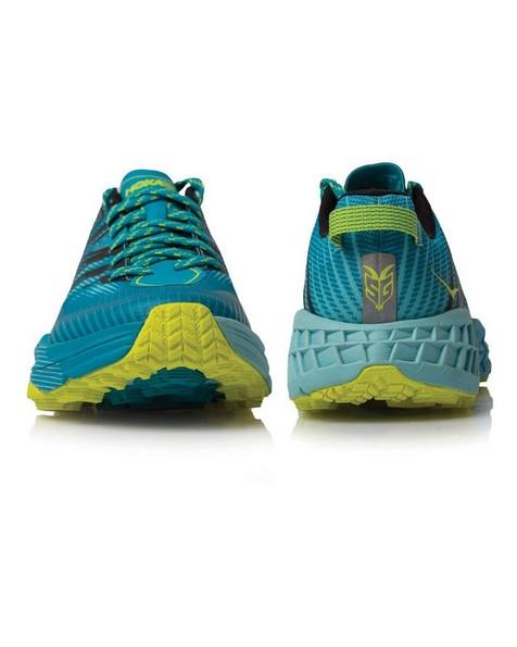 Hoka Women's Speedgoat 4 Shoe -  aqua-yellow