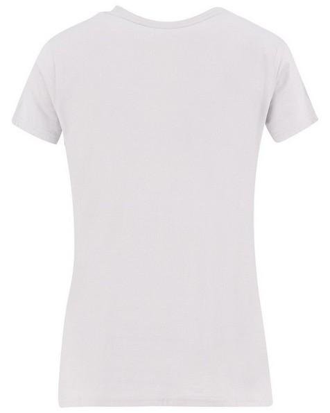 K-Way Women's V-Neck Short-Sleeve T-Shirt -  silver-grey