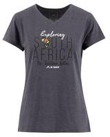 K-Way Women's V-Neck Short-Sleeve T-Shirt -  graphite