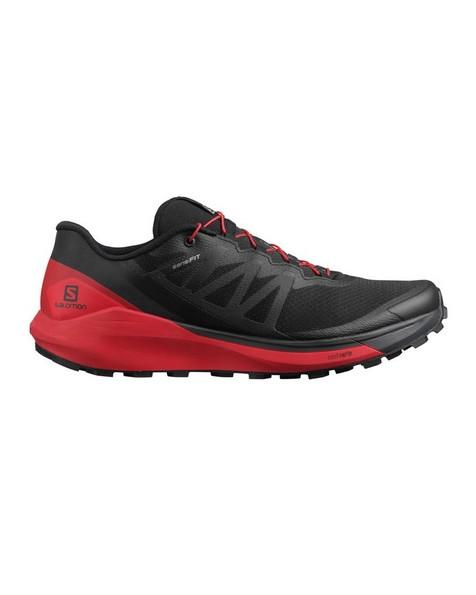 Salomon Men's Sense Ride 4 Trail Running Shoe -  black-red