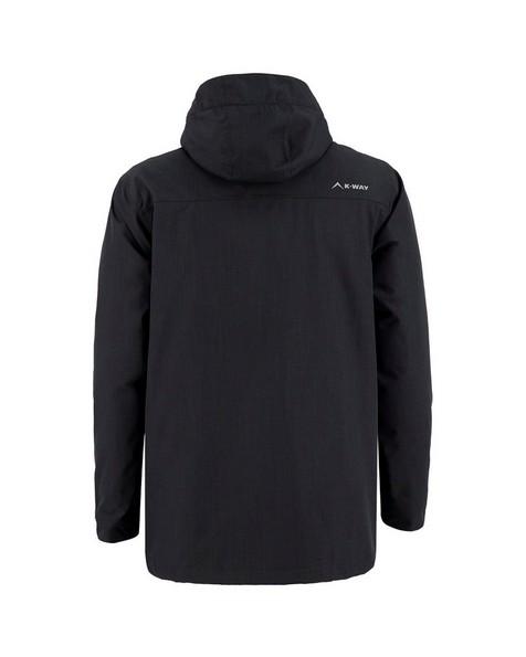 K-Way Men's Barrow Three-in-One Jacket -  black-graphite