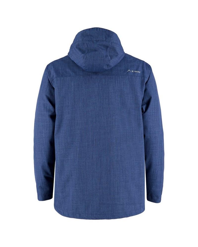 K-Way Men's Barrow Three-in-One Jacket -  blue-darkred