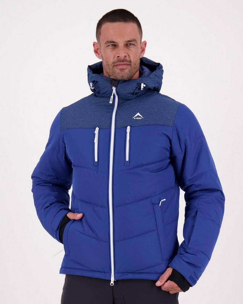 K-Way Men's Pinnacle Ski Jacket -  royal-white