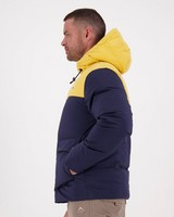 K-Way MMXXI Men's Campside Down Jacket -  navy-yellow