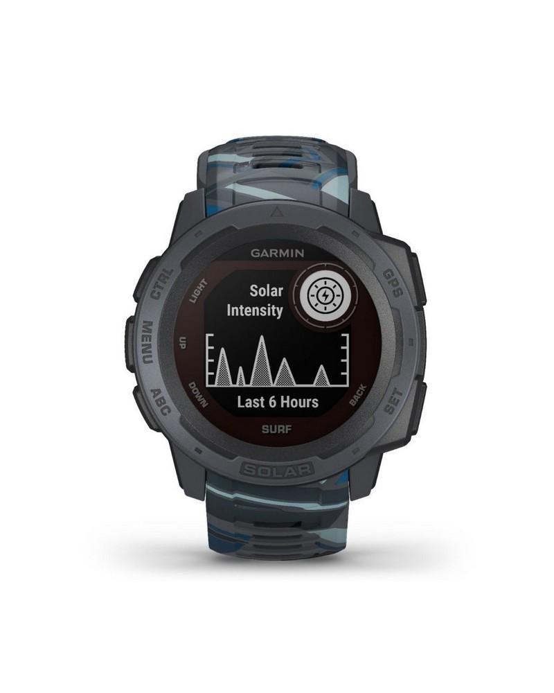 Garmin Instinct Solar Surf Fitness Watch -  grey-blue