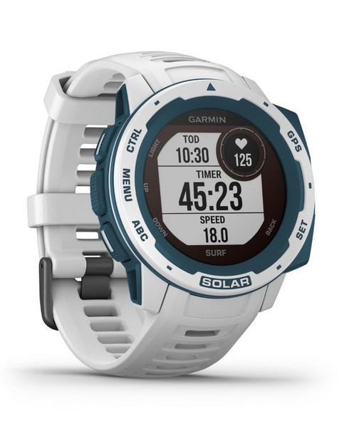 Garmin Instinct Solar Surf Fitness Watch -  white-turquoise