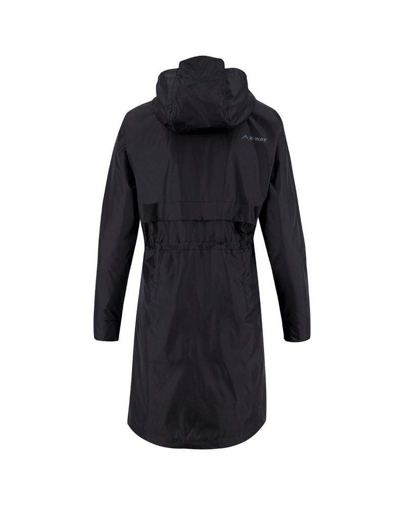 K-Way Women's Spire Rain Coat -  black