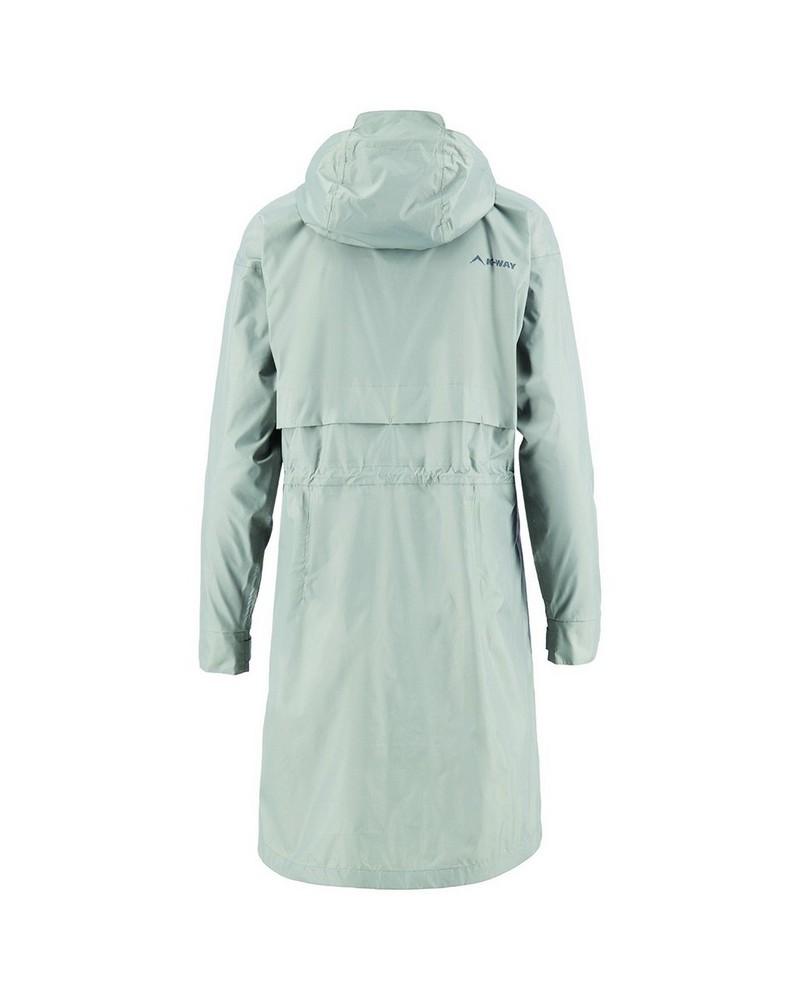 K-Way Women's Spire Rain Coat -  grey