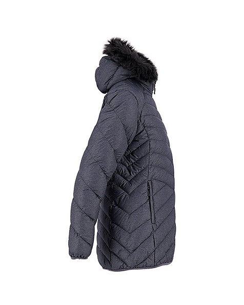 K-Way Women's Dawn Longer Down Jacket -  black