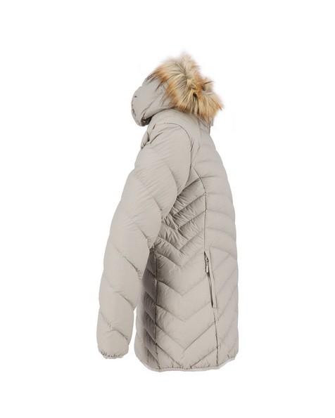 K-Way Women's Dawn Longer Down Jacket -  driftwood-khaki