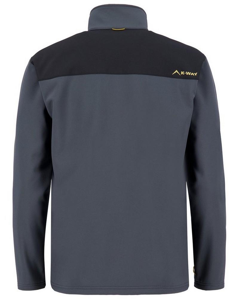 K-Way 40YY Men's Felixx Softshell Jacket -  graphite-black