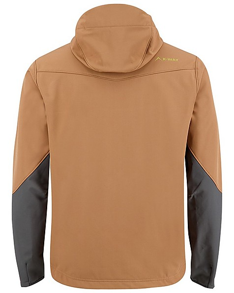K-Way 40YY Men's Stader Softshell Hoody  -  copper-graphite