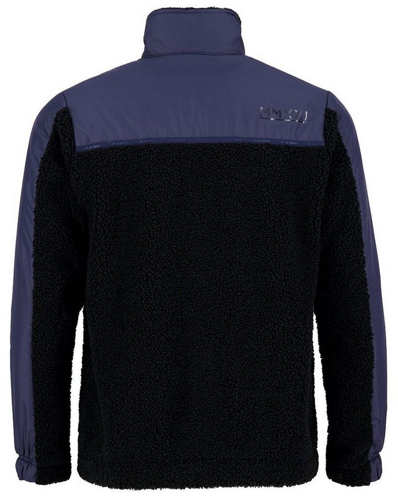 K-Way MMXXI Men's Travis Fleece Jacket -  indigo-black