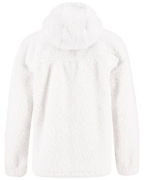 K-Way MMXXI Women's Shaggy Zip-Thru Fleece Hoody -  pink-white