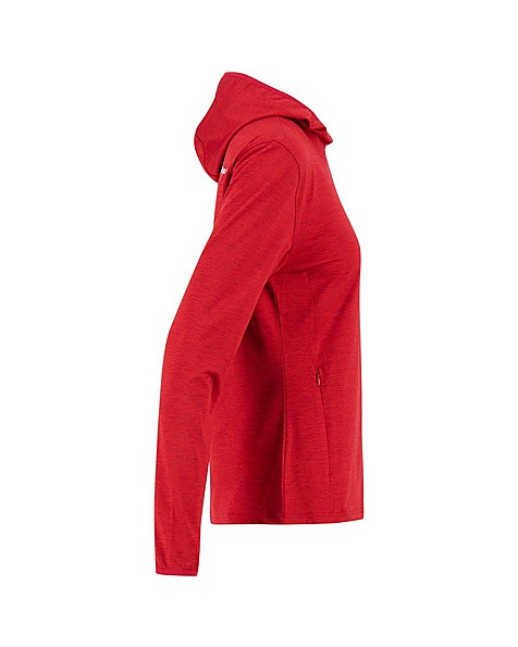 K-Way Women's Riley Pullover Hood -  red-silver