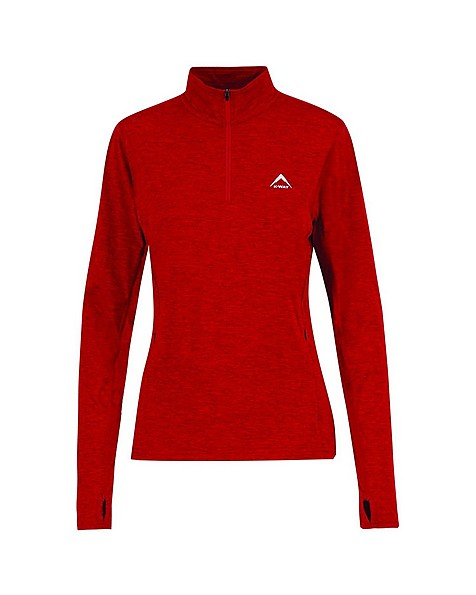 K-Way Women's Jade Quarter Zip Fleece Jacket -  red-silver