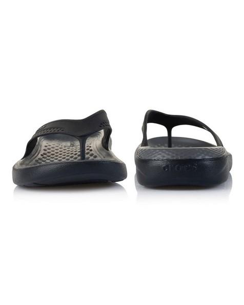 Crocs Men's LiteRide Flip Sandal -  black-grey